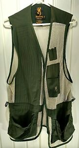 Browning  Green / White Mesh Light Weight Hunting Shooting Vest  size large
