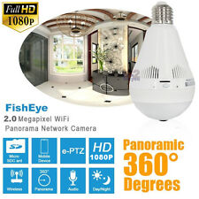 2.0MP P2P 1080P HD LED Light Bulb Wireless IP Spy CCTV Security Camera WiFI Cam