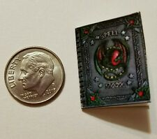 Miniature dollhouse Halloween witch spell book Barbie 1/12 Scale   Haunted NH