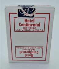 Casino Playing Cards - Continental Hotel Red Deck Las Vegas Nevada Used Uncut