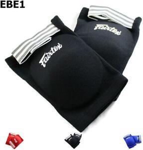 Fairtex Elastic Elbow Pads EBE1 Muay Thai Kick Boxing Protect Soft Fabric