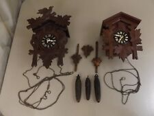 Vintage Cuckoo Clock Lot Black Forest Germany Hurbert Herr