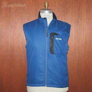Marmot Men's sz Large L Vest Blue 100% Lightweight Polyester Shell