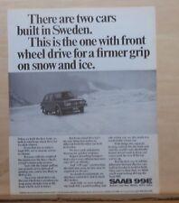 1972 magazine ad for Saab - Swedish car built for firmer grip on snow & ice