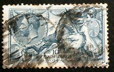 GB - 1919 : King George V - 10sh blue, Perf 11x12 retouched, Scott# 181