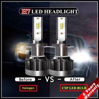 2X 110W H7 LED Headlight CSP Chip Bulb Kit Canbus Error Free 30000LM White 6000K