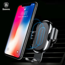 Gravity Car Mount Qi Wireless Charging Charger Phone Holder Stand Cell Phone GPS