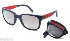 Polo logo LAUREN 4089 Rouge classique/Bleu pliage Lunettes de soleil hommes /