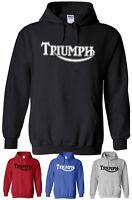 Triumph Hoodie Motorcycle Hooded Sweatshirt Hoody