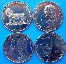 CONGO 2004 4 MONETE PAPIAZERBAIJAN SERIE 4 MONETE