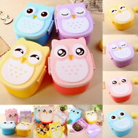 Cute Cartoon Owl Lunch Box Food Container Storage Portable Kids Bento Box CHAN