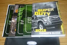2012 FORD F SUPER DUTY OWNERS MANUAL SET 12 F250 F350 GUIDE w/case