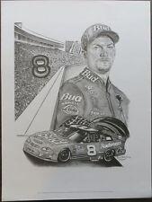 Dale Earnhardt Jr Unsigned 18x24 B/W Lithograph Robert Stephen Simon