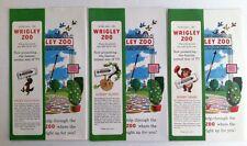 Vtg 3 WRIGLEY ZOO POP UP ADs Wm Wrigley Jr Co Spearmint GUM Racoon Sloth Bear