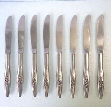Oneida LASTING ROSE – Oneidacraft Deluxe Stainless KNIFE SET OF 8 DINNER KNIVES