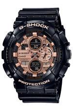 Casio G-Shock GA-140GB-1A2 Analog-Digital Rose Gold Dial Black Strap Men's Watch