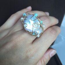 100% Baroque freshwater 25mm pearl 14K Gold Filled ring Original works Australia