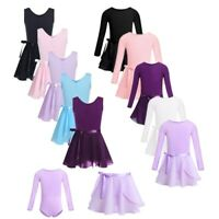 Toddler Girls Ballet Dress Gymnastics Leotard Dancewear Top+Tutu Skirt Costume