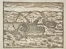 Lüttich  Liege Belgien Belgie seltener echter alter Holzschnitt von Saur 1610