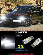 ALFA ROMEO 159 LUCI POSIZIONE T10 6 LED BIANCO SUPER QUALITA CAMBUS