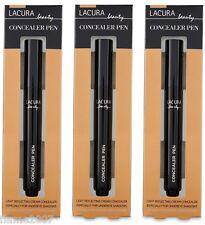 BNIB 3 x LACURA Under-EYE Cream CONCEALER Pen DARKER Complexions ~ AMBER 300