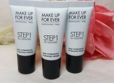 Lot of 3 Make Up For Ever STEP 1 SKIN EQUALIZER HYDRATING PRIMER .16 oz x3 MUFE