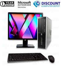 "Hp Desktop Computer Pc Intel Core 2 Duo 8Gb 250Gb Hd 19"" Lcd Dvd Windows 10 Wifi"