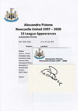 ALESSANDRO PISTONE NEWCASTLE UTD 1997-2000 ORIGINAL HAND SIGNED CUTTING/CARD