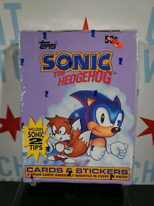 "1993 ""Sonic the Hedgehog"" Sega Topps Trading Cards Full (36-pk.) Box SEALED"