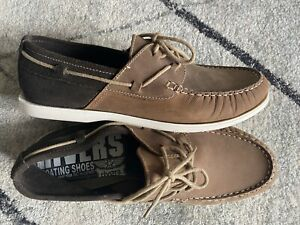 RIVERS BOAT SHOES SIZE 14 rrp $50 WORN ONCE MINIMAL TWO TONE