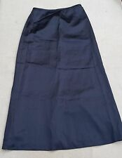 G2000 Ladies Long Length Black Skirt UK 10 Thin Polyester Blend