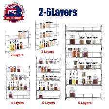 Wall Mount Kitchen Door Cupboard Storage Spice Rack Pantry Bottle Organizer O