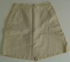 Originale gonna-pantalone, lunghezza bermuda, beige tg 44