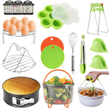15Accessories Set for Heating Pot Fits 6/8qt Pressure Cooker with Steamer Basket