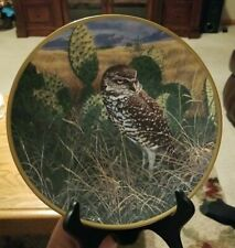 "Hamilton Collection ""Prairie Sundown"" Noble Owls of America Collector's Plate"