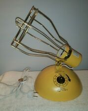 Vintage Ge General Electric Deluxe Time A Tan Sun Lamp Rsk6 Tested Works