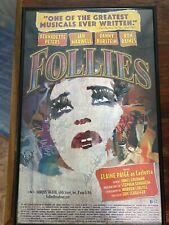 More details for follies poster  - signed bernadette peters, elaine paige. broadway revival