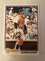 1978 Topps #60 Thurman Munson Baseball Card - New York Yankees