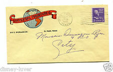 Vintage Color Advertising Envelope UNIVERSAL FURNITURE El Paso TX 1946