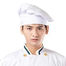 Chef HAT White Master Kitchen Cooking Baker Cap Costume Cotton Prep Restaurant