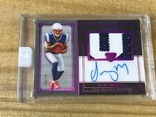 2018 Panini One NFL Sony Michel RC Premium Patch On Card Auto Red /25 Patriots