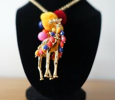 KATE SPADE NY SPICE THINGS UP CAMEL PENDANT NECKLACE.NEW