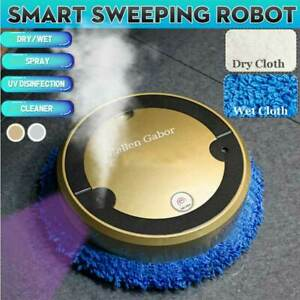 Smart Cleaning Robot Self Charging Vacuum Cleaner Sweep Mop Floor Machine Gold
