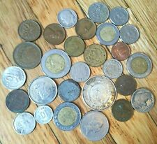 Lot of 28 Coins Worldwide Some Silver Old-Now Circulated