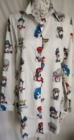 """WOMENS LOOSE FIT FASHION ANIMALS LONG SHIRT BLOUSE NEW 1 SIZE BUST 45"""" 114 CM"""