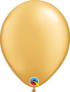 "GOLD BALLOONS 11"" (28cm) QUALATEX METALLIC GOLD PROFESSIONAL LATEX BALLOONS"