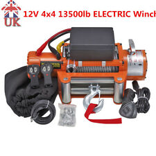 12V 4x4 13500lb ELECTRIC Winch Wireless Recovery Off Road Steel Powerful UK