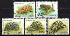 Animaux Tortues Azerbaidjan (180) série complète 5 timbres oblitérés