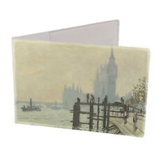 Thames Below Westminster Travel Card Oyster Card Wallet with Monet art print