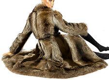 Gr.S Waschbär Pelzmantel raccoon fur coat Pelz Mantel pelliccia vintage echtfell